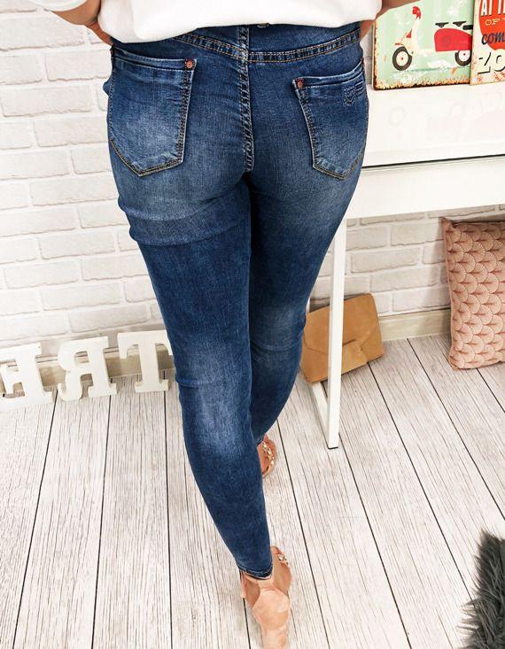 spodnie damskie - jeansy
