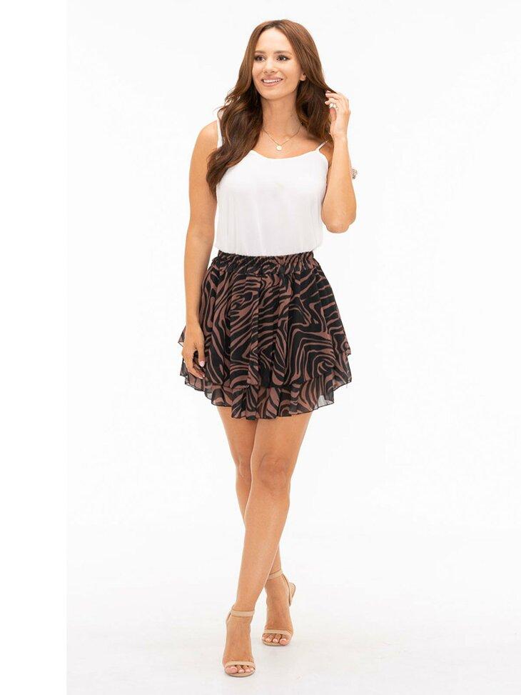 modna krótka spódniczka damska